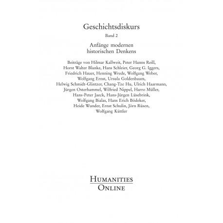 Geschichtsdiskurs, Band 2
