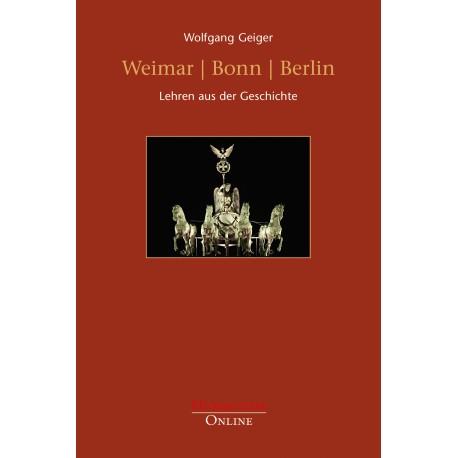Weimar Bonn Berlin